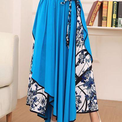 LK shop Asymetrická sukně / šaty Barva: světle modrá