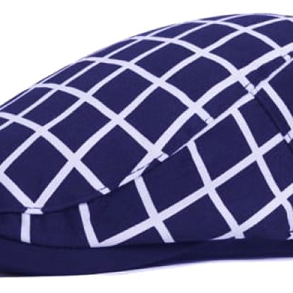 Kostkovaná golfová čepice