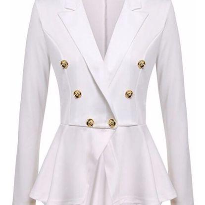 LK shop Sako s knoflíčky Barva: bílá, Varianta: L