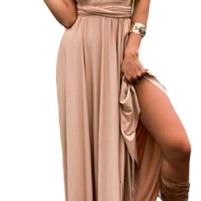 Letní romantické šaty s libovolně nastavitelným svrškem - 15 barev