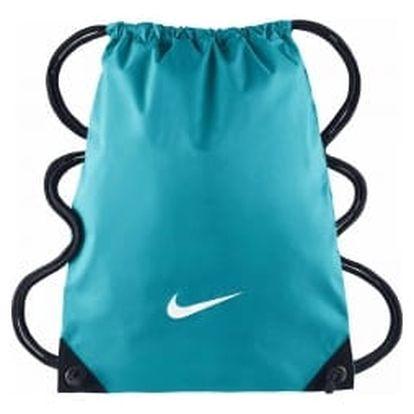 Pánská taška Nike FUNDAMENTALS SWOOSH GYMSACK MISC OMEGA BLUE/BLACK/(WHITE)