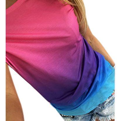 LK shop Duhové tričko Barva: modrá, Varianta: XL