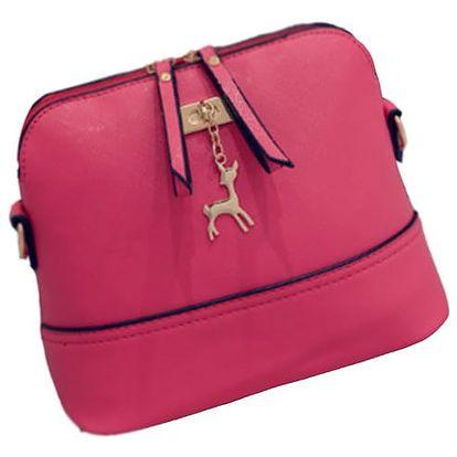 LK shop Crossbody kabelka s přívěskem Barva: růžová