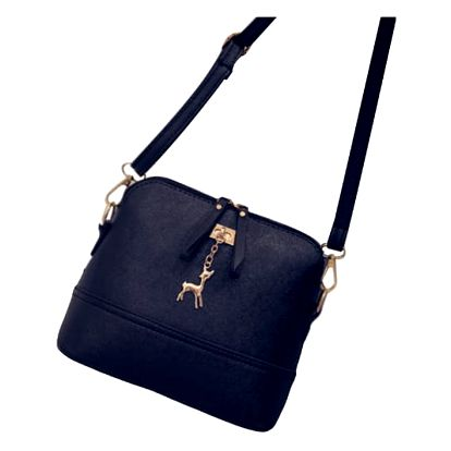 LK shop Crossbody kabelka s přívěskem Barva: černá