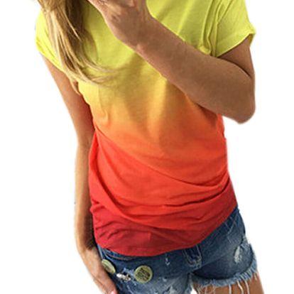 LK shop Duhové tričko Barva: oranžová, Varianta: S