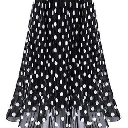 Dámská puntíkovaná sukně ve dvou barvách