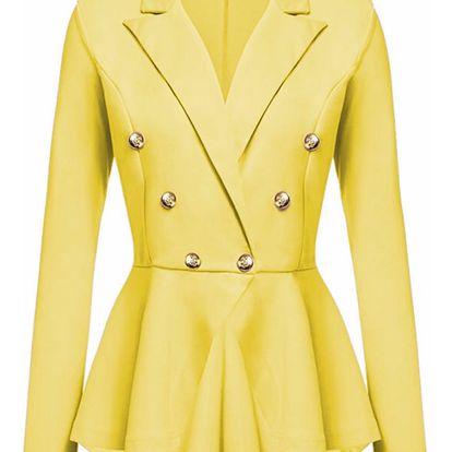 LK shop Sako s knoflíčky Barva: žlutá, Varianta: L
