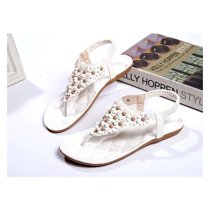 LK shop Flower sandále Barva: bílá 1, Varianta: 38