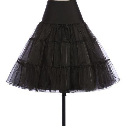 LK shop Tutu sukně s vysokým pasem Barva: černá, Varianta: S