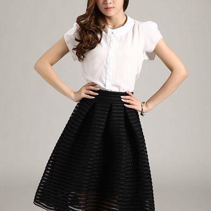 LK shop Módní nadýchaná sukně Barva: černá, Varianta: L