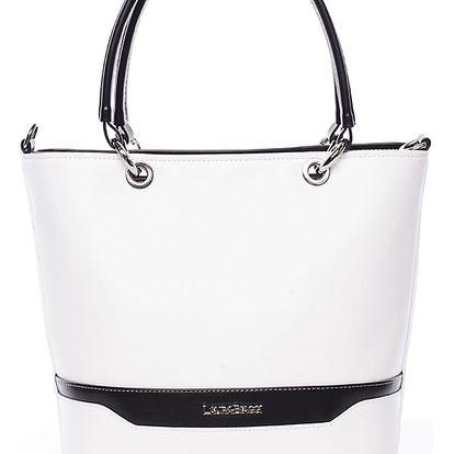 Elegantní dámská kabelka bílo černá - Delami Samanta černo/bílá
