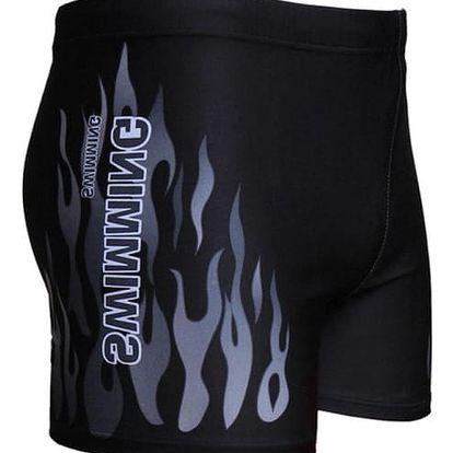Pánské plavecké trenýrky s plameny - 3 barvy