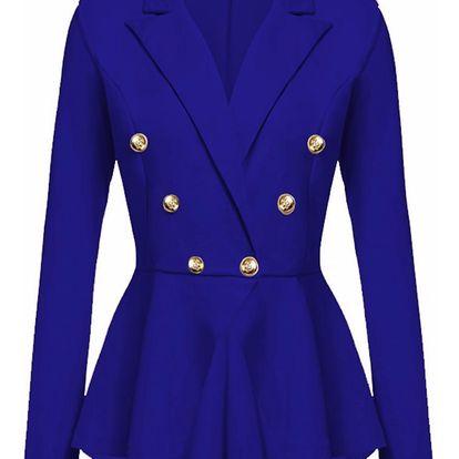 LK shop Sako s knoflíčky Barva: modrá, Varianta: M