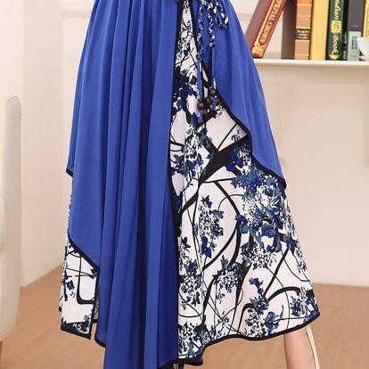 LK shop Asymetrická sukně / šaty Barva: tmavě modrá