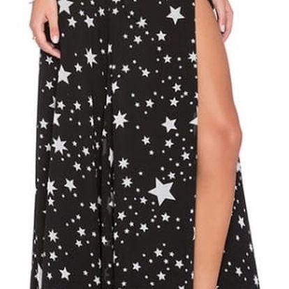 Lehká sukně s rozparkem a vysokým pasem - velikost 2 - 6