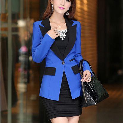 LK shop Elegantní sako / blejzr Barva: modrá, Varianta: M