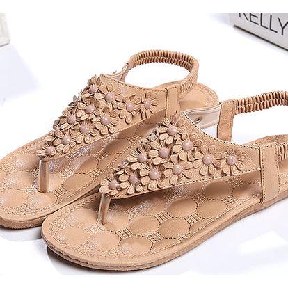 LK shop Flower sandále Barva: hnědá 1, Varianta: 39