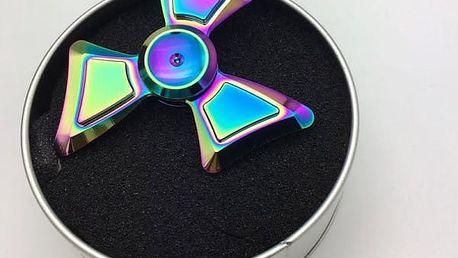 Originální fidget spinner v plechovém boxu