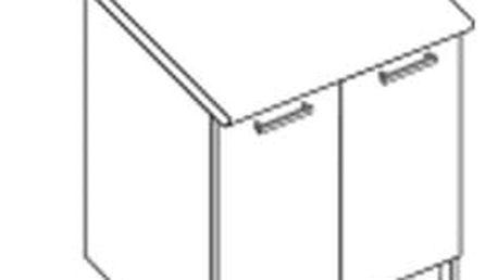 Dolní skříňka D80 pro kuchyňskou sestavu Amanda ořech viva / priede arden (Amanda 2)