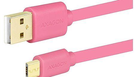 AXAGON BUMM-AM20QP, 2 m, růžový