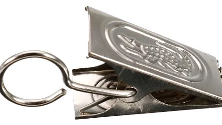 Kovové svorky na závěsy - 20 ks