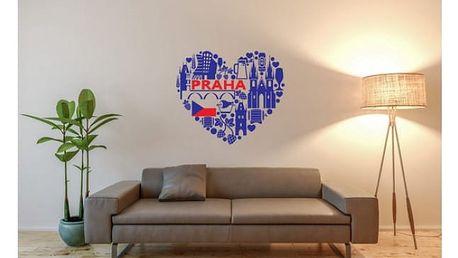 Samolepka na zeď česky - Praha 50 x 45 cm