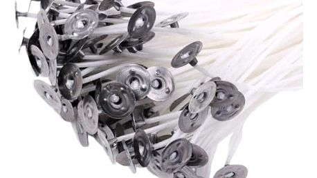 Knoty s plíškem na výrobu svíček - 100 ks - dodání do 2 dnů
