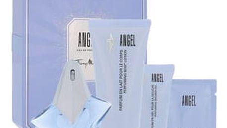 Thierry Mugler Angel EDP dárková sada Naplnitelný W - EDP 25 ml + tělové mléko 100 ml + sprchový gel 30 ml + tělový krém 10 ml