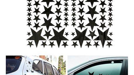 Samolepka na auto a zeď - hvězdy