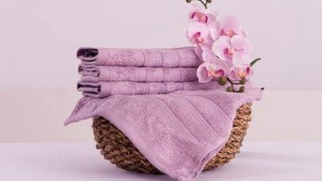 XPOSE ® Bambusový ručník SÁRA - levandulová 30x50cm 6ks