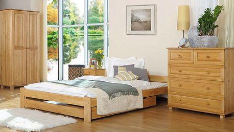 Dřevěná postel Niwa 180x200 + rošt ZDARMA borovice