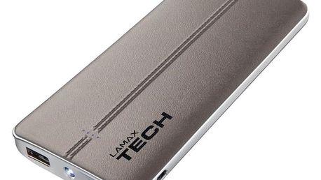 LAMAX Tech 10500 mAh - 8594175351293 + LAMAX Tech USB Car Charger 3.4A - USB nabíječka do auta (2x USB) - černá/bílá