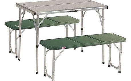 Piknikový set Coleman PACK-AWAY™ TABLE FOR 4 zelený/hliník + Taška přes rameno Coleman ZOOM (1L, manšestr), 160 g v hodnotě 293 Kč + Doprava zdarma