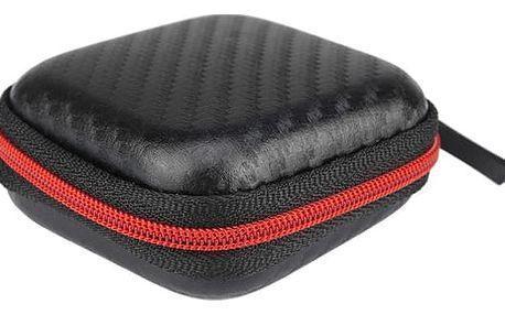 Přenosné pouzdro na sluchátka - černá/červená