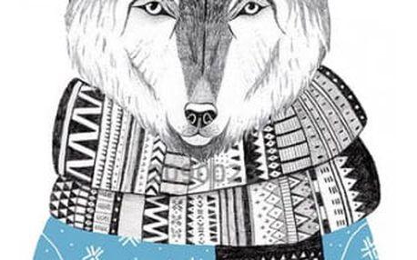 Akrylová brož se stylovým zvířátkem - 6 variant