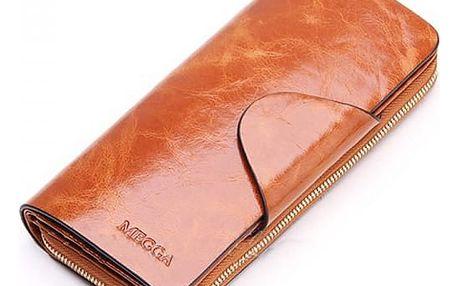 Prostorná elegantní peněženka - více barev