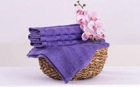 XPOSE ® Bambusový ručník SÁRA - fialová 30x50cm 6ks