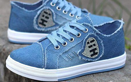 LK shop Jeans tenisky HI! Barva: světle modrá, Varianta: 37