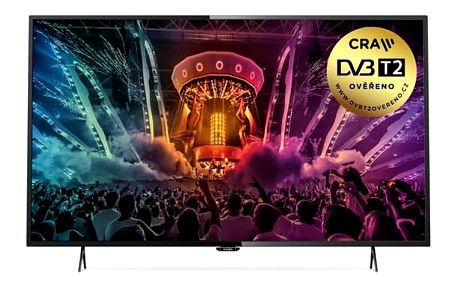 Televize Philips 43PUS6101 černá + Doprava zdarma