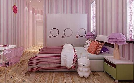 LK shop 3D tapeta - proužek Barva: růžová