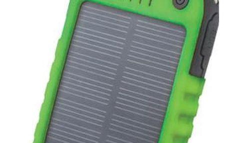 Forever PB-016 5 000 mAh, solární, zelená - BAEPOWER5000SOGR
