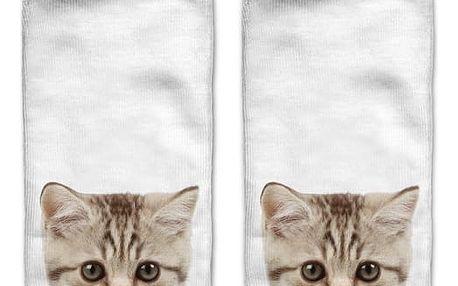 Kotníkové ponožky s motivy kočiček