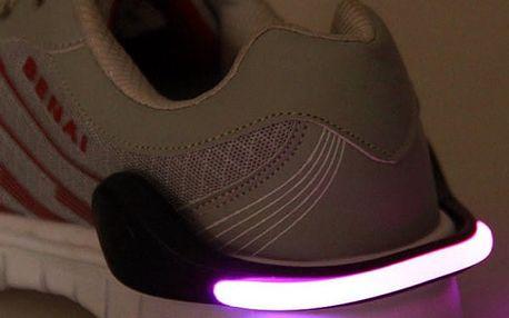 Přídavné LED světlo na boty - 6 barev