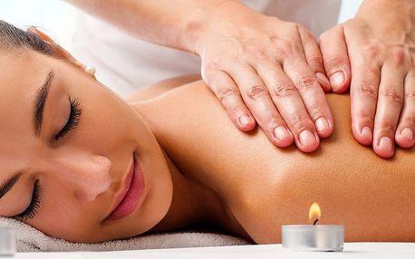 60minutová masáž zad a šíje s olejem