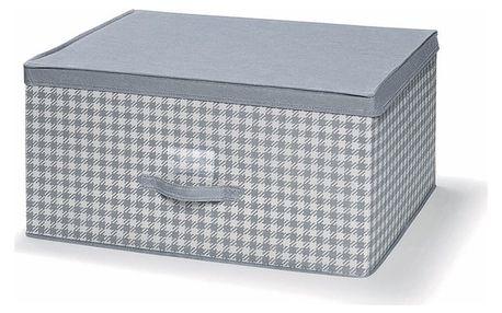 Šedý uložný box s víkem Cosatto De Poule,45x60cm