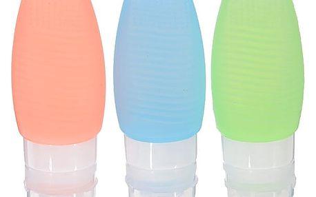 Cestovní sada 3 kusů lahviček na kosmetiku či mýdlo - 48 ml nebo 78 ml