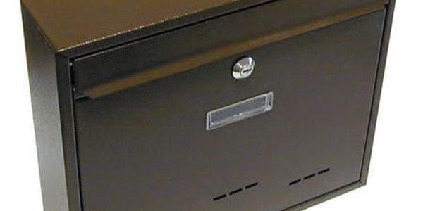 Schránka poštovní RADIM velká 310x360x90mm hnědá