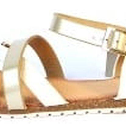 Moderní dámské sandálky bílé