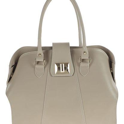 Béžová kožená kabelka Tina Panicucci Profa - doprava zdarma!