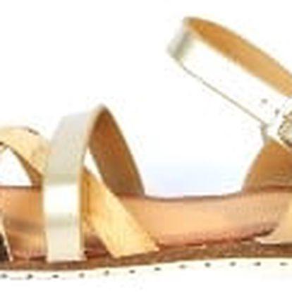 Moderní dámské sandálky béžové